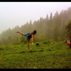 Slackline in the rain