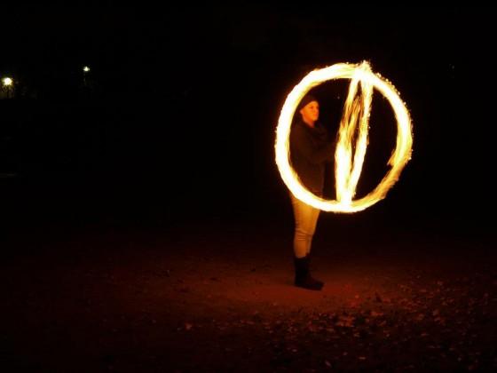 Ich spiele nicht mit dem Feuer, ich trainiere es!