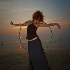 Sunset Hooping Arambol 2010