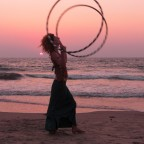 Sunset Hooping Arambol 2009