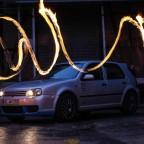 Meine liebsten Hobbies : Mein Golf R und das Feuer ^^