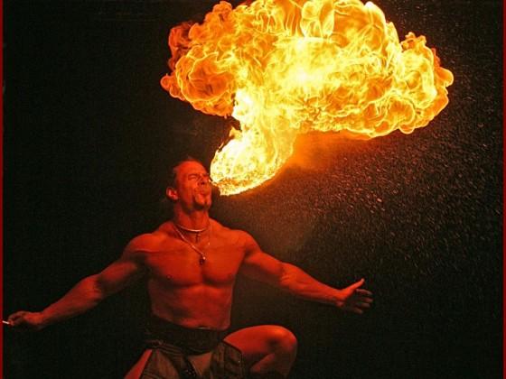 Mittelaltershow mit Feuershow und Ritterlager und Schlangenshow